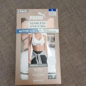 2 Pack PUMA Seamless Sports Bra